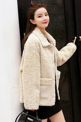Z19QW981冬季韩版chic羊羔毛外套女毛绒宽松休闲皮毛一体ins外套女
