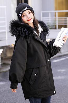 Z19DY138派克工装棉服女冬装新款韩版宽松bf面包服港风棉衣外套