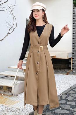 Z21QTF132时尚长款两件套连衣裙