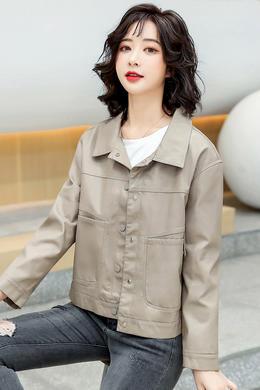 Z21CW165时尚韩版皮衣女短外套