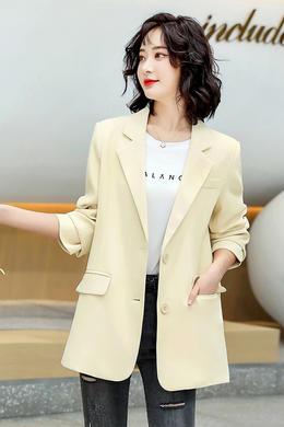 Z21CW8035-1时尚韩版休闲宽松西装外套