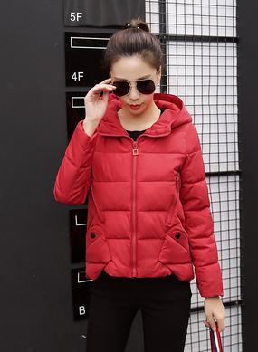 Z16DM8628短款冬季韩版棉服女红色